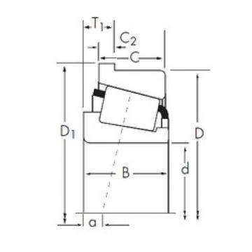 31.75 mm x 72,626 mm x 29,997 mm  Timken 3193/3120-B tapered roller bearings