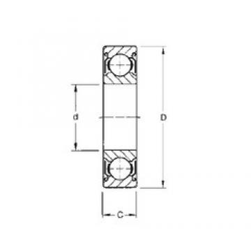 19.05 mm x 41,275 mm x 7,92 mm  Timken S8KDD deep groove ball bearings