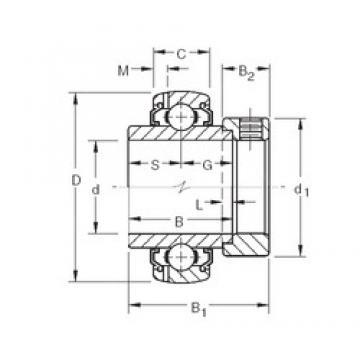 60,325 mm x 110 mm x 61,91 mm  Timken G1206KLLB deep groove ball bearings