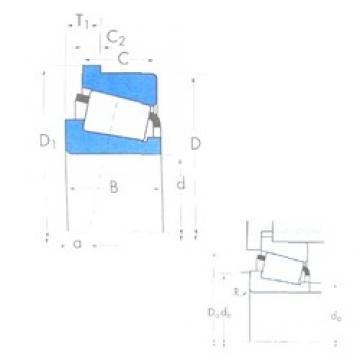 114,3 mm x 177,8 mm x 41,275 mm  Timken 64450/64700B tapered roller bearings