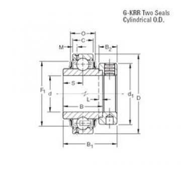 40 mm x 80 mm x 42,86 mm  Timken GE40KRR deep groove ball bearings