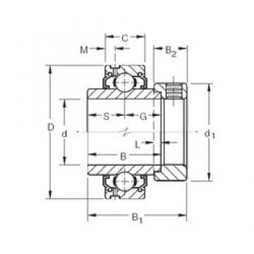38,1 mm x 80 mm x 42,86 mm  Timken G1108KLL deep groove ball bearings