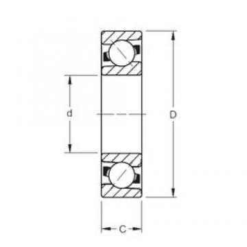 95 mm x 170 mm x 32 mm  Timken 7219WN MBR angular contact ball bearings