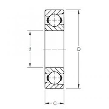 104,775 mm x 152,4 mm x 22,23 mm  Timken 41BIH196 deep groove ball bearings