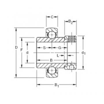 53,975 mm x 100 mm x 55,56 mm  Timken SM1202KB deep groove ball bearings