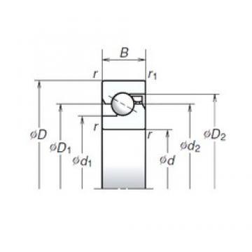 35 mm x 72 mm x 15 mm  NSK 35TAC72B thrust ball bearings