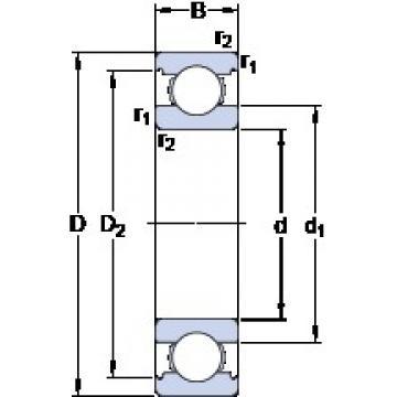 100 mm x 125 mm x 13 mm  SKF 61820 deep groove ball bearings