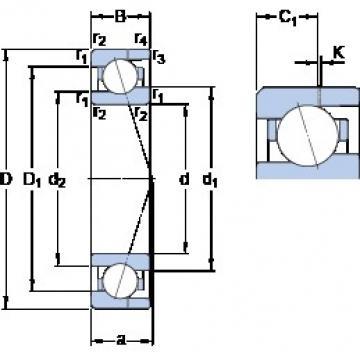 12 mm x 24 mm x 6 mm  SKF 71901 ACE/P4AH angular contact ball bearings