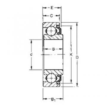 6 mm x 24 mm x 9,8 mm  Timken 36KVL deep groove ball bearings