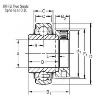 57,15 mm x 110 mm x 61,91 mm  Timken 1204KRRB deep groove ball bearings