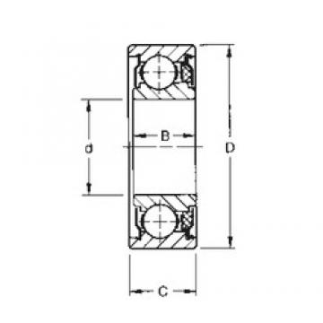 8 mm x 24 mm x 9,8 mm  Timken 38KVTD deep groove ball bearings