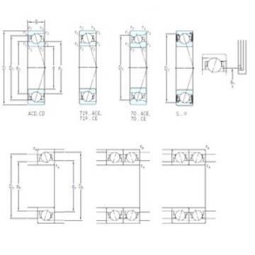 40 mm x 68 mm x 15 mm  SKF S7008 CD/HCP4A angular contact ball bearings