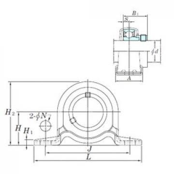 KOYO SAPP205-14 bearing units