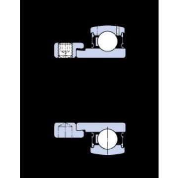 40 mm x 80 mm x 30.2 mm  SKF E2.YET 208 deep groove ball bearings