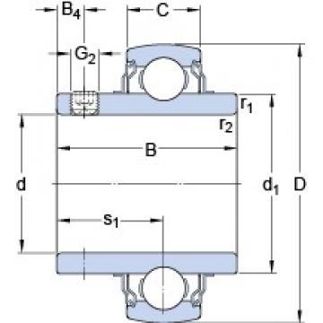 40 mm x 80 mm x 49.2 mm  SKF YAR 208-2FW/VA201 deep groove ball bearings
