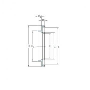 45 mm x 68 mm x 4,2 mm  SKF AXW45 needle roller bearings