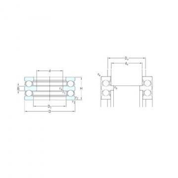 50 mm x 95 mm x 10 mm  SKF 52212 thrust ball bearings