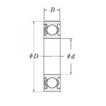 6 mm x 16 mm x 5 mm  NSK B6-63ZZ deep groove ball bearings