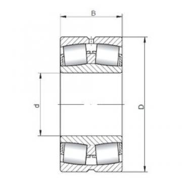 360 mm x 540 mm x 180 mm  ISO 24072W33 spherical roller bearings