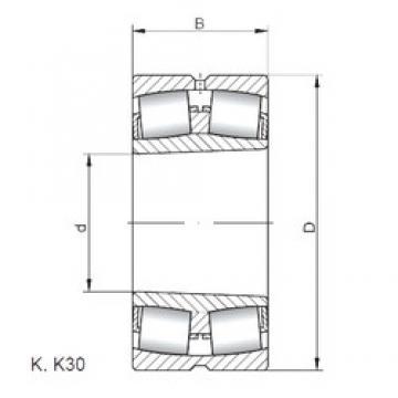260 mm x 440 mm x 180 mm  ISO 24152 K30W33 spherical roller bearings