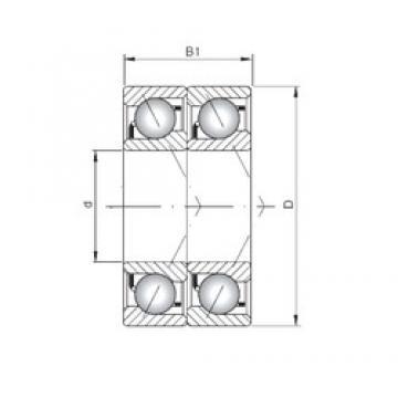 ISO 7236 ADT angular contact ball bearings