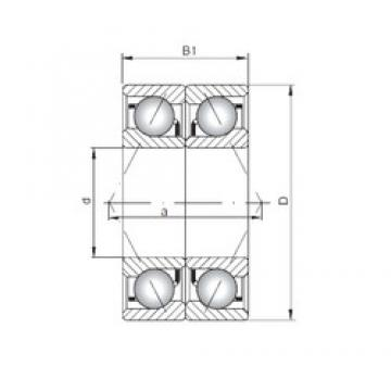 ISO 7232 BDB angular contact ball bearings