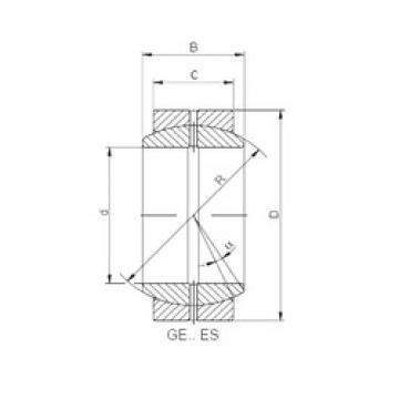 950 mm x 1250 mm x 400 mm  ISO GE950DO plain bearings