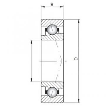 ISO 71803 A angular contact ball bearings