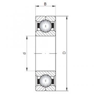 ISO Q310 angular contact ball bearings