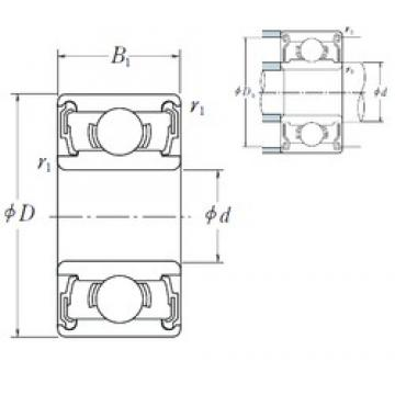 7 mm x 26 mm x 9 mm  ISO 637-2RS deep groove ball bearings