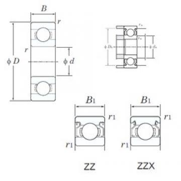4 mm x 7 mm x 2,5 mm  KOYO WML4007ZZ deep groove ball bearings