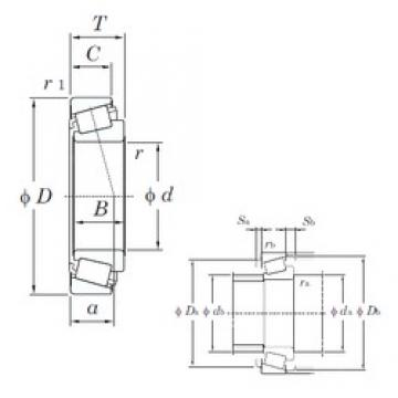 41,28 mm x 67,98 mm x 18 mm  KOYO HI-CAP 57519/LM300811 tapered roller bearings