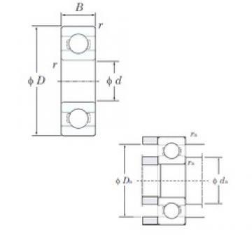 5 mm x 8 mm x 2 mm  KOYO ML5008 deep groove ball bearings