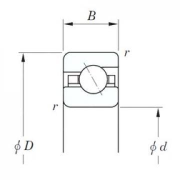 139,7 mm x 177,8 mm x 19,05 mm  KOYO KFA055 angular contact ball bearings