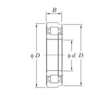 140 mm x 210 mm x 33 mm  KOYO NUP1028 cylindrical roller bearings