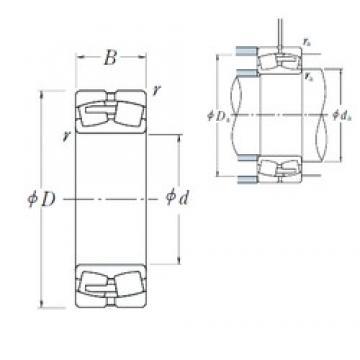 190 mm x 400 mm x 132 mm  NSK 22338CAE4 spherical roller bearings