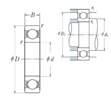 440 mm x 540 mm x 46 mm  NSK 6888 deep groove ball bearings