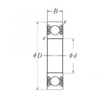 140 mm x 210 mm x 33 mm  NSK 6028DDU deep groove ball bearings