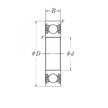 95 mm x 130 mm x 18 mm  NSK 6919DDU deep groove ball bearings