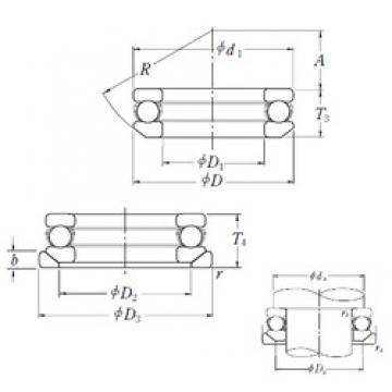 NSK 53413U thrust ball bearings