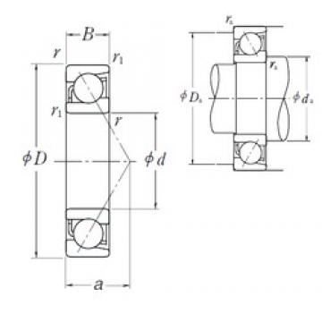 340 mm x 520 mm x 82 mm  NSK 7068B angular contact ball bearings