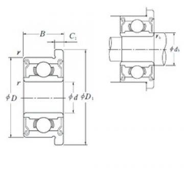 3 mm x 6 mm x 2,5 mm  NSK MF63ZZ deep groove ball bearings