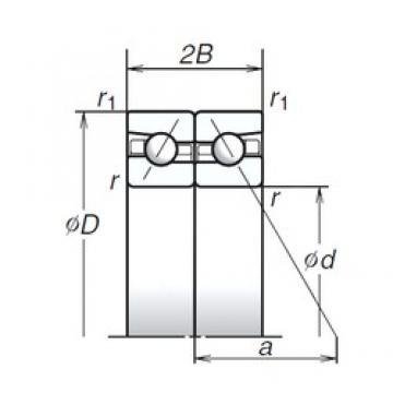190 mm x 290 mm x 45 mm  NSK 190BTR10S angular contact ball bearings