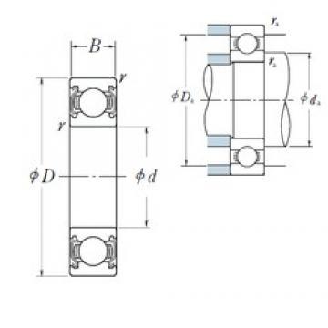 110 mm x 240 mm x 50 mm  NSK 6322ZZ deep groove ball bearings