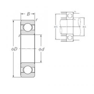 80 mm x 110 mm x 16 mm  NTN 6916 deep groove ball bearings
