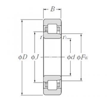 110 mm x 200 mm x 38 mm  NTN NJ222E cylindrical roller bearings