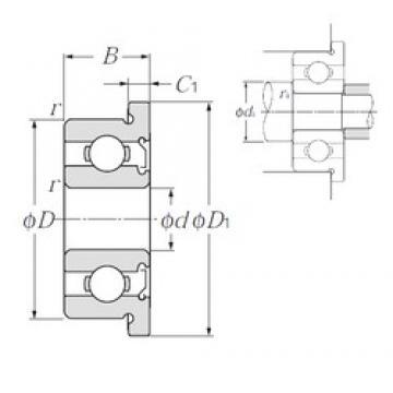 5 mm x 8 mm x 2,5 mm  NTN FLWA675Z deep groove ball bearings
