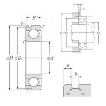 85 mm x 120 mm x 18 mm  NTN 6917N deep groove ball bearings