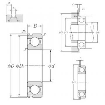 30 mm x 55 mm x 13 mm  NTN 6006NR deep groove ball bearings