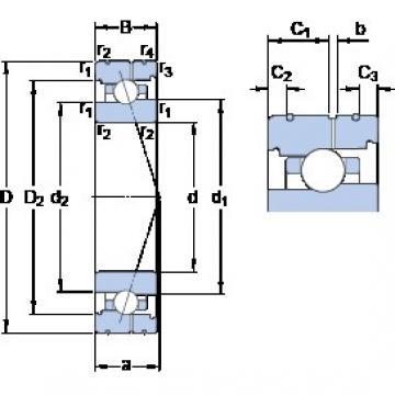 85 mm x 130 mm x 22 mm  SKF 7017 CB/P4AL angular contact ball bearings